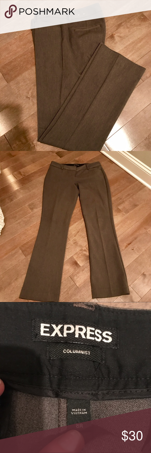 Express columnist pant Excellent condition. Like new. Too small for me. Express Pants Straight Leg