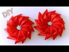 Bow asterisco a partir de uma fita / fita da estrela Bow Tutorial / ✿ NataliDoma - YouTube