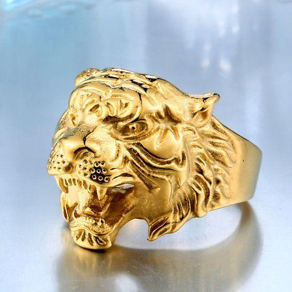 3e2b9ecdff540 Tiger Ring, Gold, Silver, Black, Bright White | Products in 2019 ...