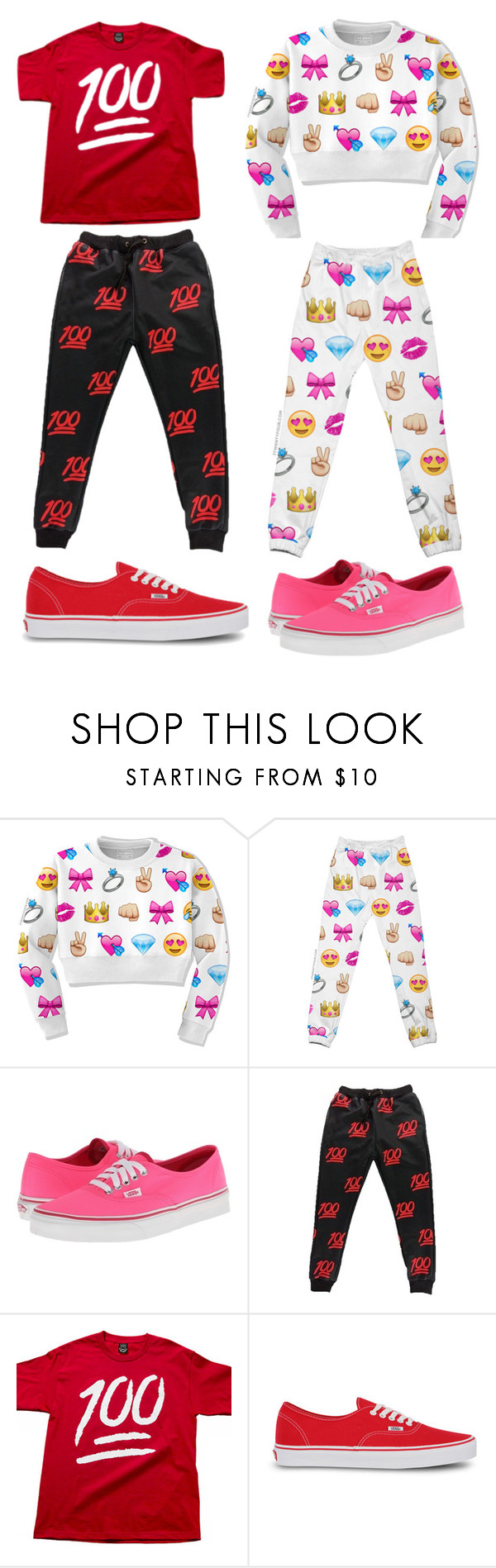 """emoji"" by tamstreeter ❤ liked on Polyvore featuring Vans"