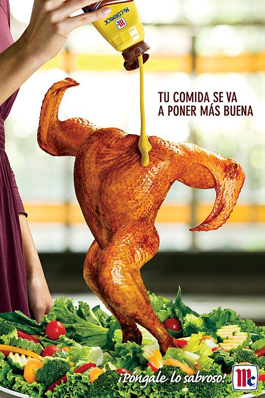 """Publicidad de McCormick; """"Tu comida se va a poner más buena."""""""