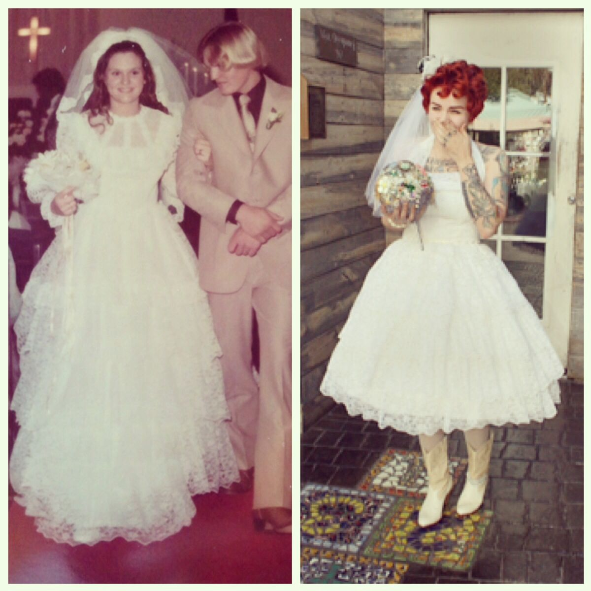 I Had My Mother's Wedding Dress Redone And Chopped! Great