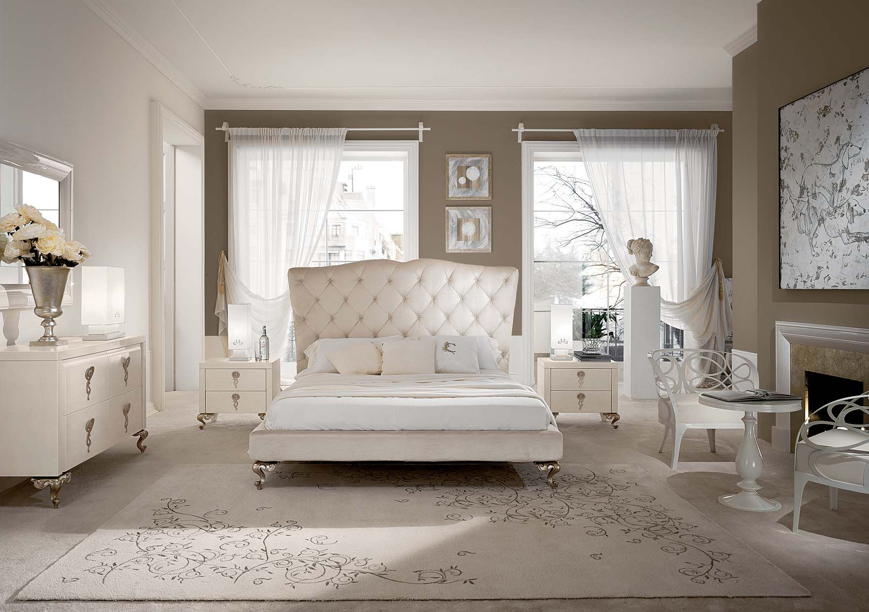 modele chambres a coucher baroques