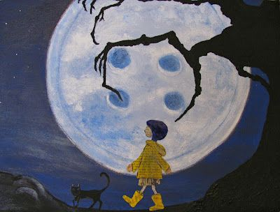 Homemade Obsessions Coraline Art Cute Canvas Paintings Coraline Drawing