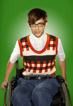 wheelchair glee olive green accent chair kevin mchale a non disabled actor plays user artie abrams in the tv series usa