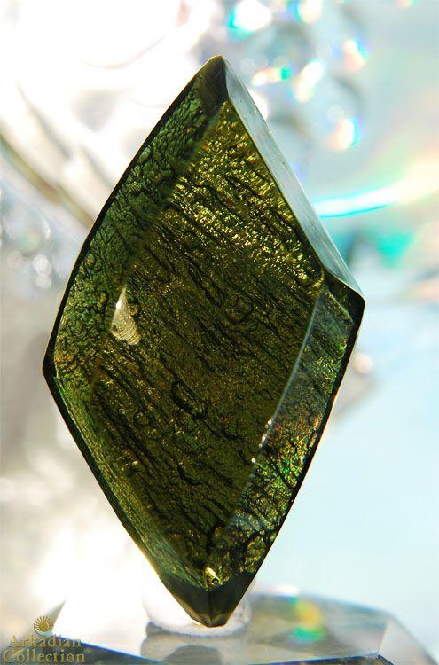 Polished Diamond Shaped Moldavite Gem~Provides Grounding ...
