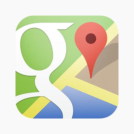 Google Maps Logo Tableau de numération, Cartes, Photo