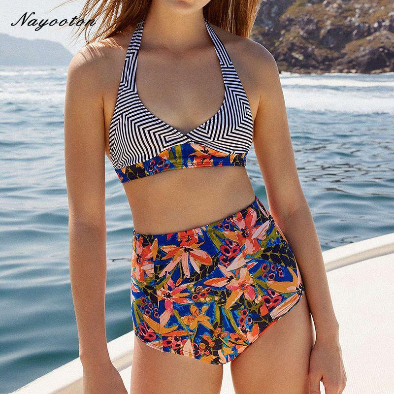 20fd7b48204 Bikini women sexy Dovetail type swimwear push up Halter Top bathing  SwimSuits high waisted swimsuit swim halter suit Brazilian Athens -- This  is an ...