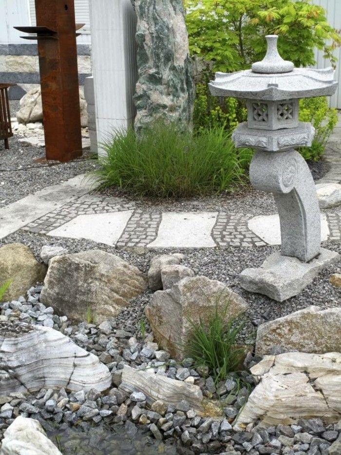 gartenideen steingarten gestalten außenbereich ideen ...