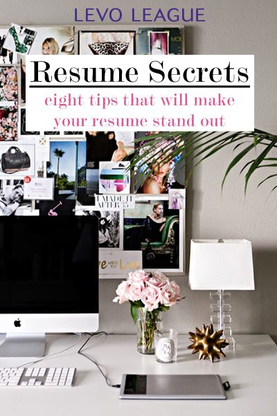 8 Resume Secrets From An Expert | Resume Tips, Interview And Offices