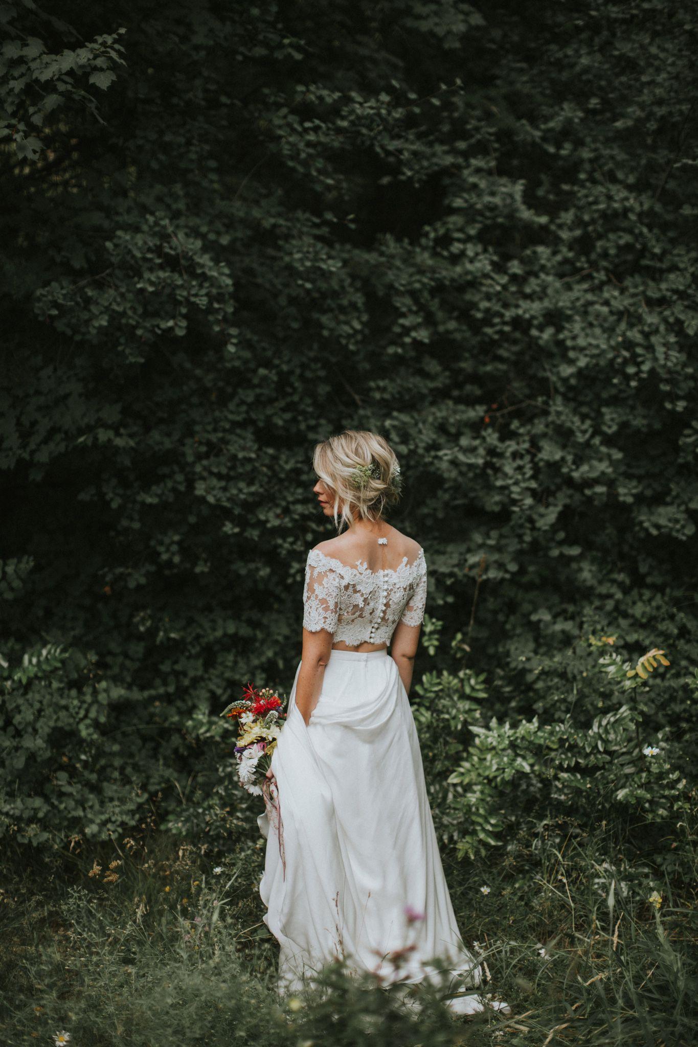 Kelowna Wedding At Gatzke Orchard Stacie Mark Long Beach Wedding Dresses Chiffon Wedding Gowns Bride