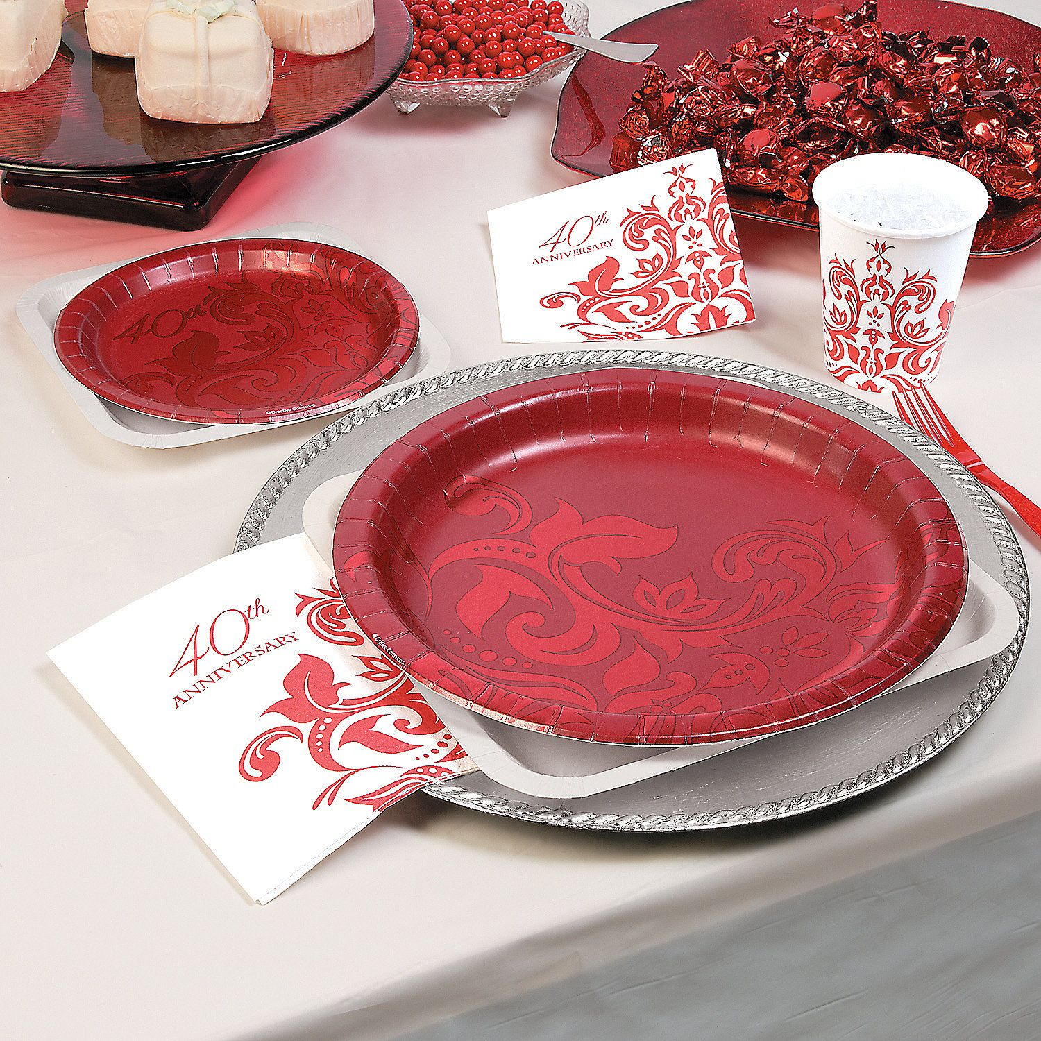 Ruby 40th Anniversary Party Supplies - OrientalTrading.com ...