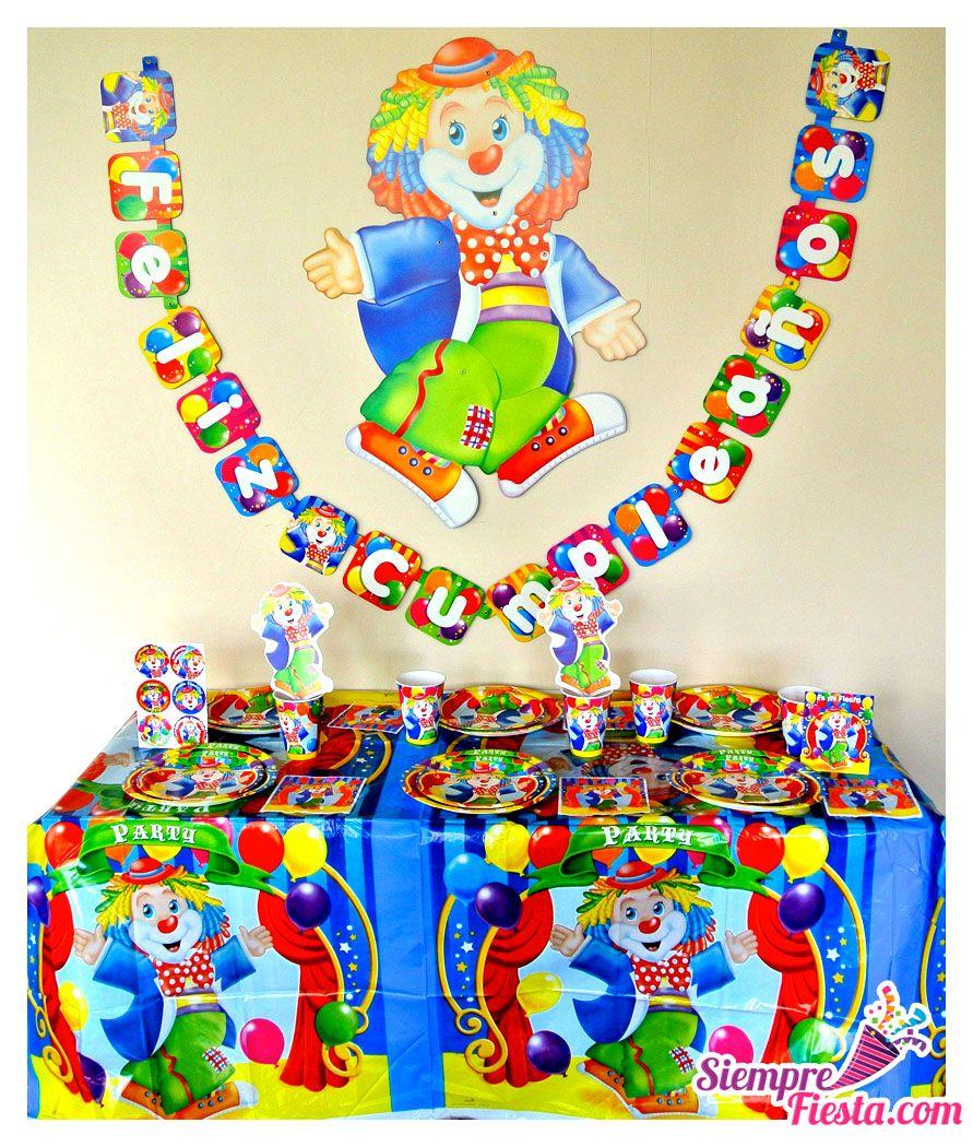 Art culos para fiesta de cumplea os tem tica de circo y - Accesorios de cumpleanos infantiles ...