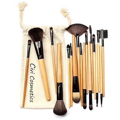 Pincéis de maquiagem profissional definida 18 pcs pincéis de maquiagem e Ferramentas com Drawstring Bag – BRL R$ 33,02
