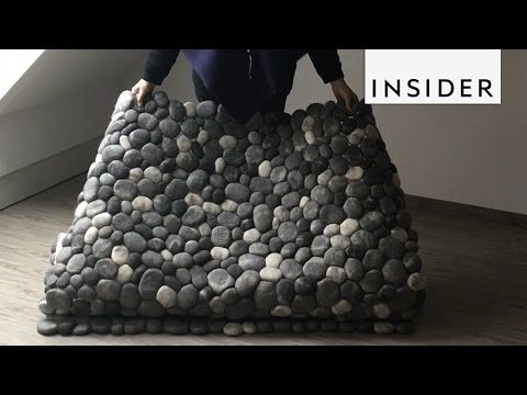 Koberce Z Plstenych Kamenov Handmade Tvorba Martina Schuhmann Stone Rug Felt Ball Rug Diy Rug