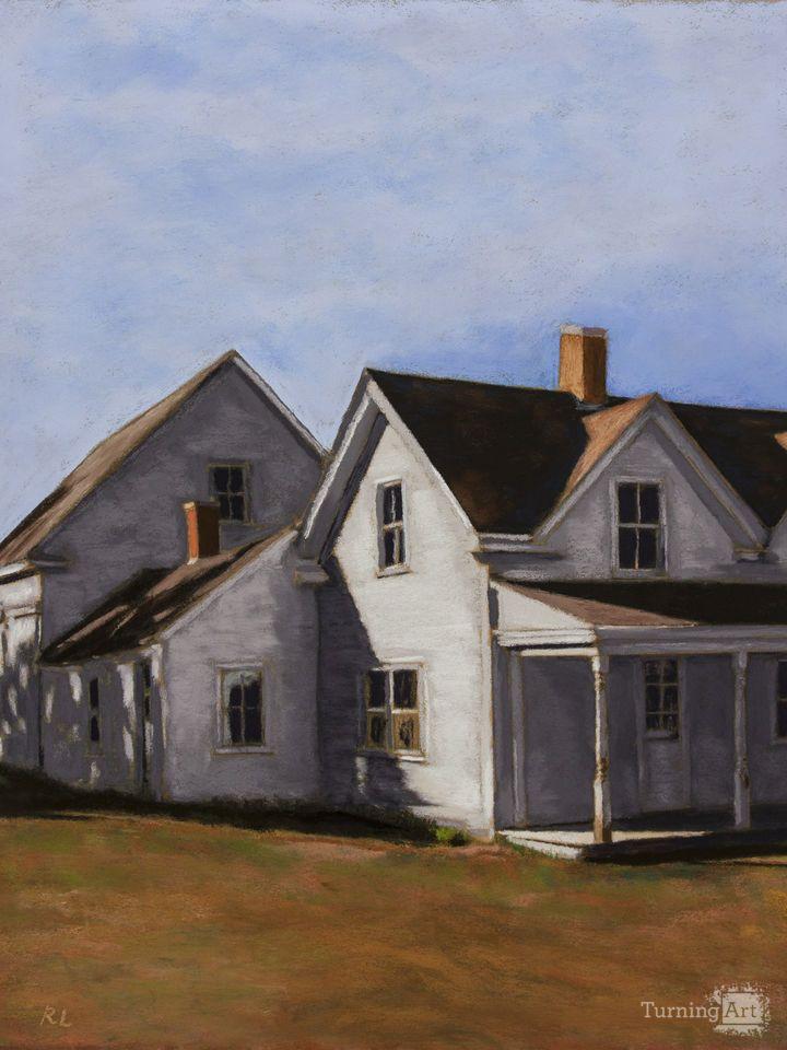 Farmhouse, Maine by Falls Church artist Richard Levine.