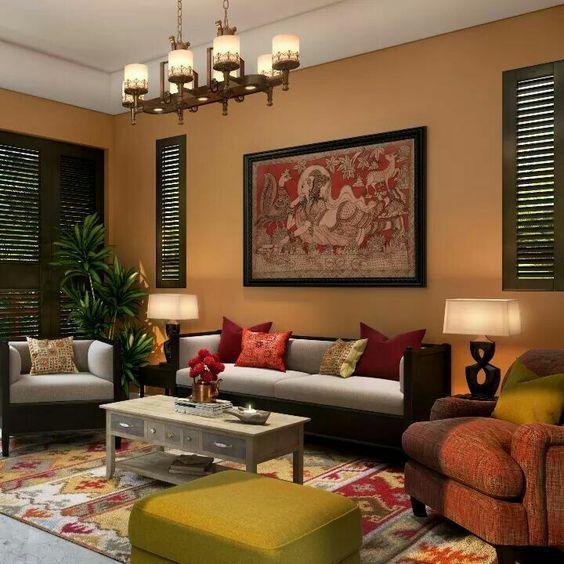 50+ Indian Interior Design Ideas House decorations Pinterest