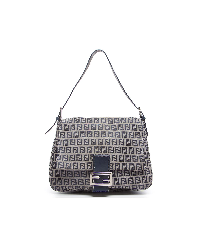 722872b42899 FENDI Pre-Owned Fendi Navy Zucchino Mama Bag .  fendi  bags  shoulder bags   hand bags  canvas  leather  lining