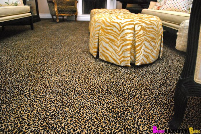 Leopard Print Carpet In All Bedrooms!