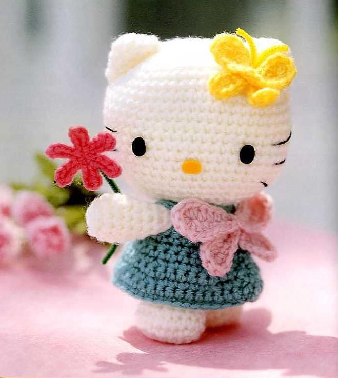 Patrón de amigurumi Hello Kitty | Hello kitty amigurumis, Patrones ... | 737x659