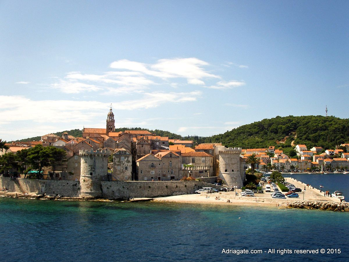 Legends say that Poseidon kidnapped his beloved Korkyra and moved her to the island which, today, has her name (Korčula = Korkyra).