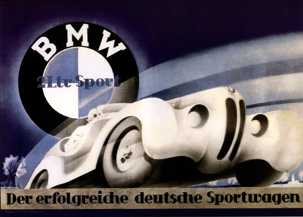 BMW 1930s 328 poster