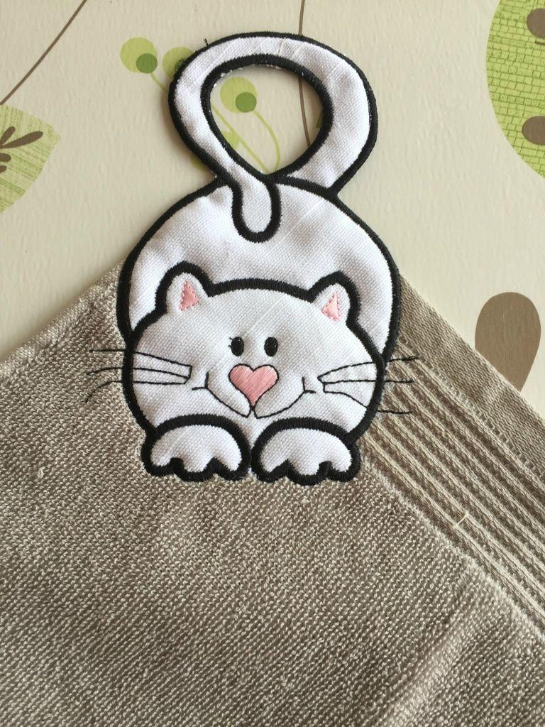 Comment Fabriquer Un Accroche Torchon accroche torchon chat - arielle créa loisirs: créations