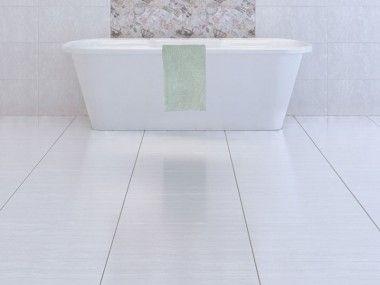 Zaffiro White Shiny Ceramic Floor Tile
