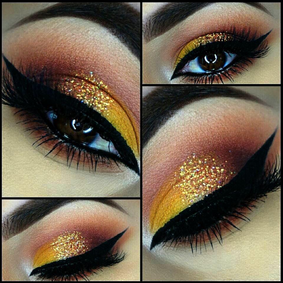 Glitter Glue gold iris.