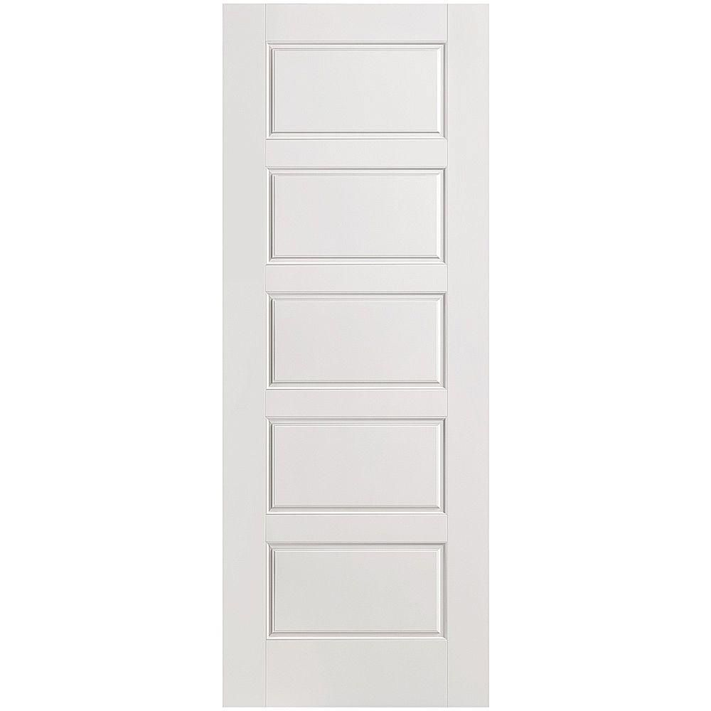 Masonite 32 in. x 80 in. Riverside Smooth 5-Panel Equal Hollow Core ...