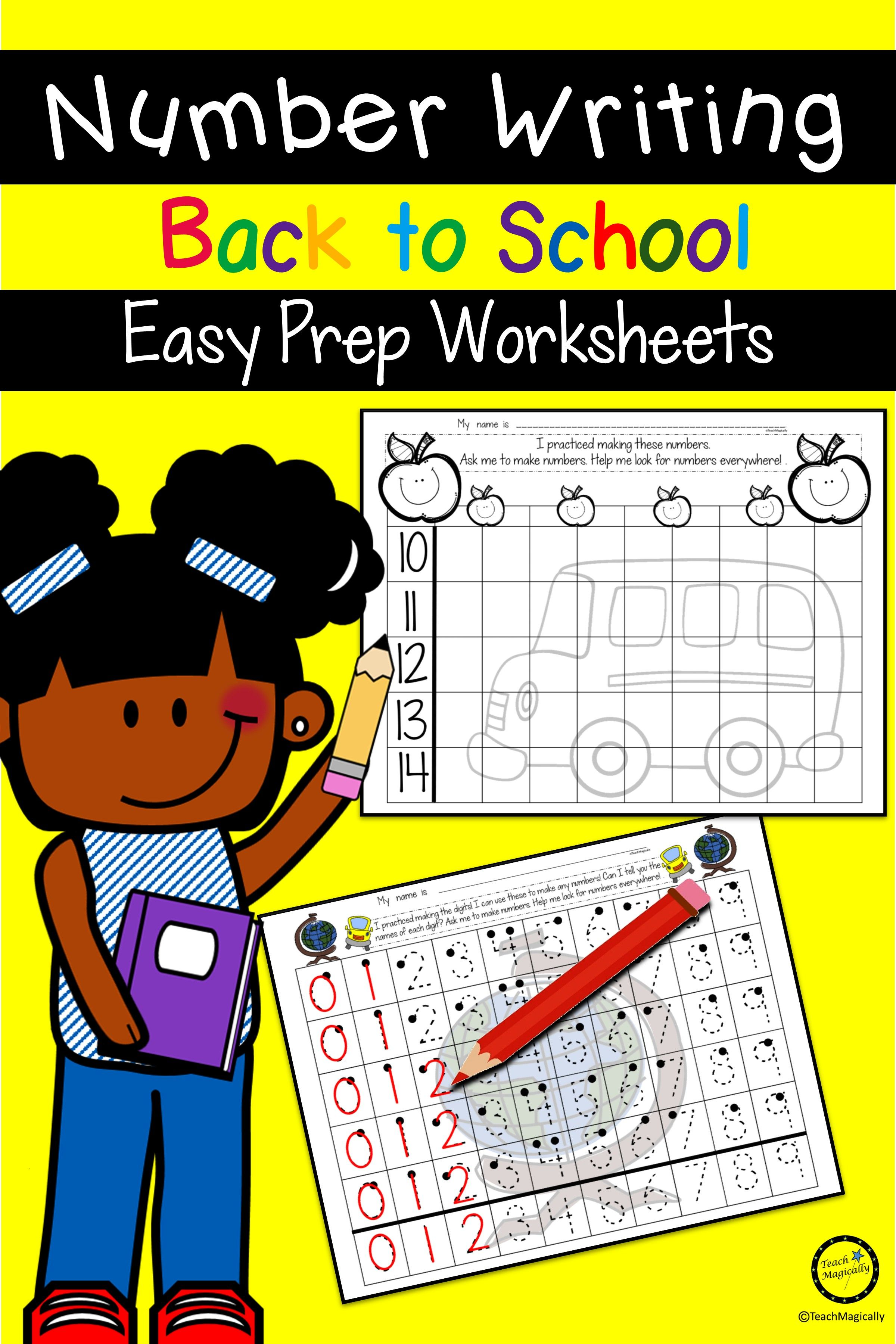 number writing practice 1-20 for kindergarten, preschool, first grade and all kids that need handwr