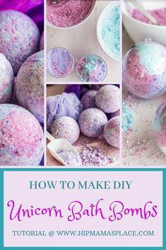Unicorn Bath Bombs DIY -   16 diy Projects for gifts ideas