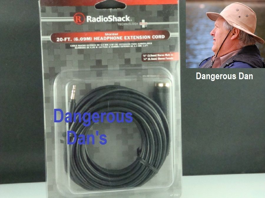 Radioshack 20ft Headphone Extension Cord 1 8 Stereo Male To 1 4 Stereo Female Headphone Extension Cord Stereo