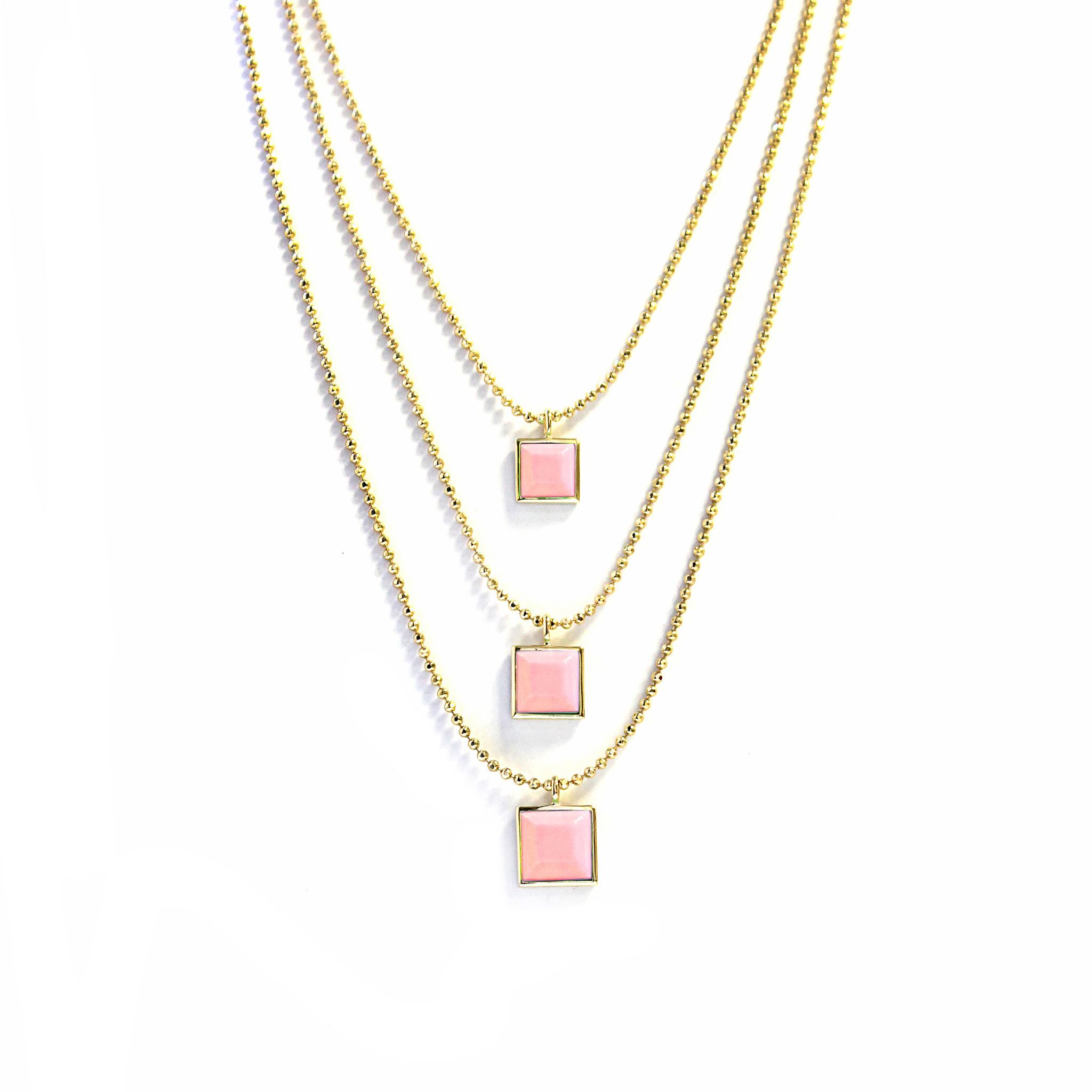 index sale necklace pixelated clovis three tier