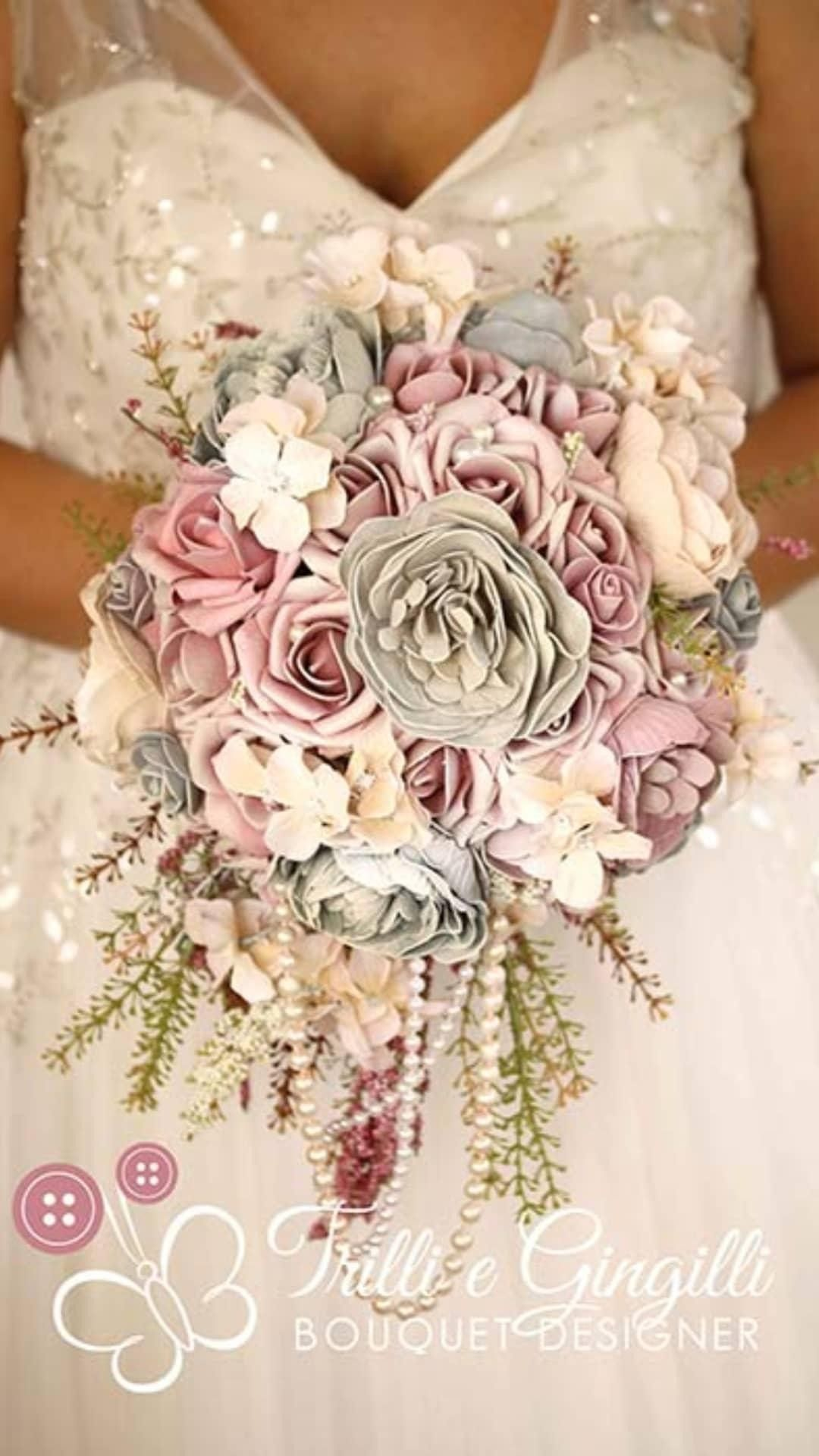 Bouquet Sposa Originale.Bouquet Sposa Alternativo Originale Per Matrimonio In Stile Boho