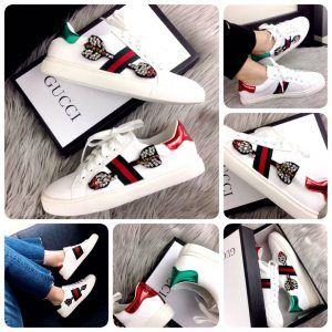 cfae39687d5 GUCCI Ace Embroidered Arrow Crystal  983-51