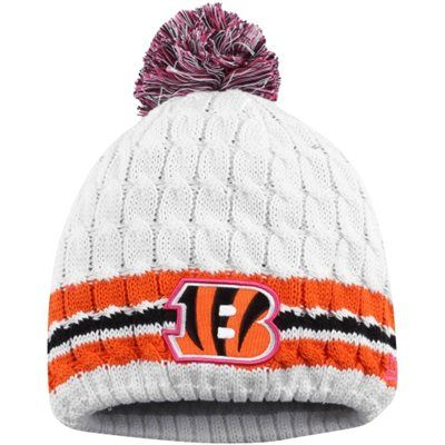 ... norway womens cincinnati bengals new era white 2014 breast cancer  awareness knit hat with pom want fe0063e05