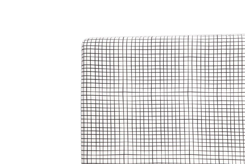 Tuxedo Monochrome Grid Mini Crib Sheet Mini Crib Sheets
