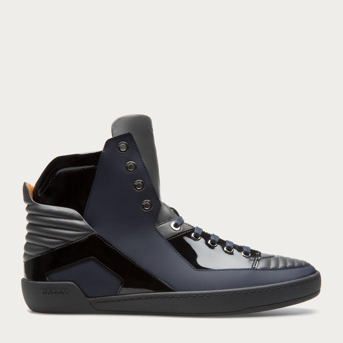 ETMAN Men ́s leather sneaker in dark grey Men ́s leather sneaker in dark grey