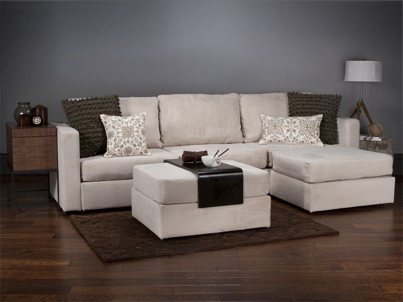 Love Sac Four Cushion Chaise Sactional And Ottoman With