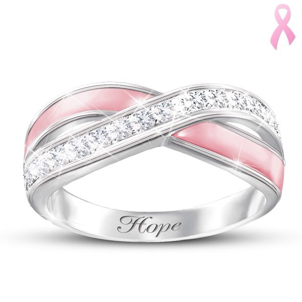 rings cancer ring pin pinterest pretty breast