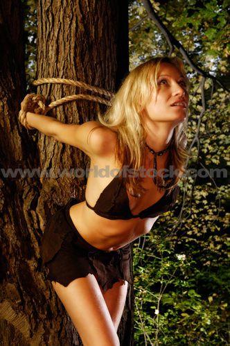 Women bound to a tree fantasy