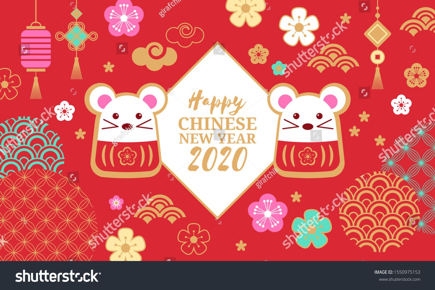 Chinese New Year Holiday Banner Design Happy New Year Of The Rat 2020 Vector Illustration Ad Chinese New Year Holiday Holiday Banner Chinese New Year Design