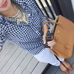 SnapWidget | Navy, white + tan never fails  Linked this affordable outfit and my favorite pink lipcolor & polish @liketoknow.it www.liketk.it/1an5B #ootd