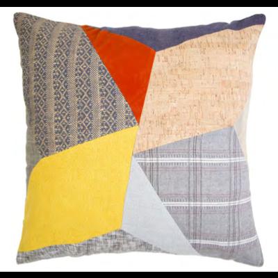 Megan Park Kaleidoscope Patched Cushion