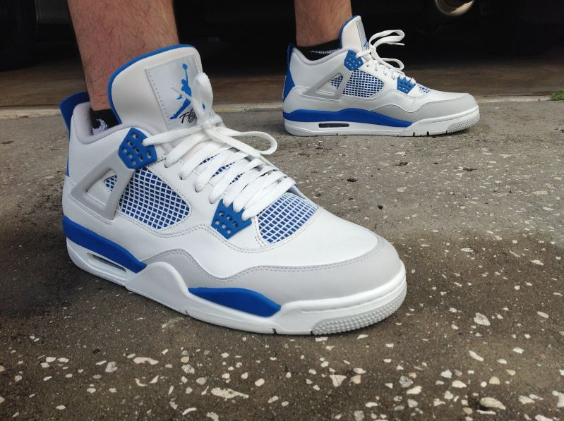 differently bed08 b5cd8 ... Nike Air Jordan Retro 4 - Military Blue ...