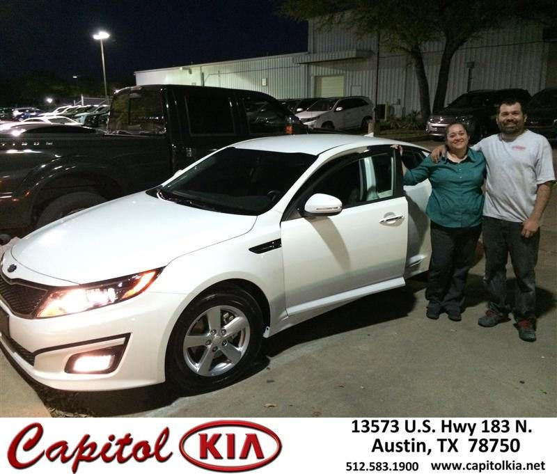 https://flic.kr/p/FyUJDG | Happy Anniversary to Alex on your #Kia #Optima from Brian Dean at Capitol Kia! | deliverymaxx.com/DealerReviews.aspx?DealerCode=RXQC