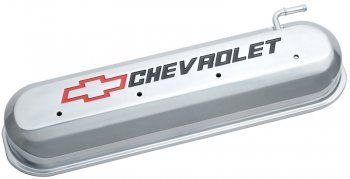 Holley Tall Ls Valve Covers W Bowtie Chevrolet Logo Natural
