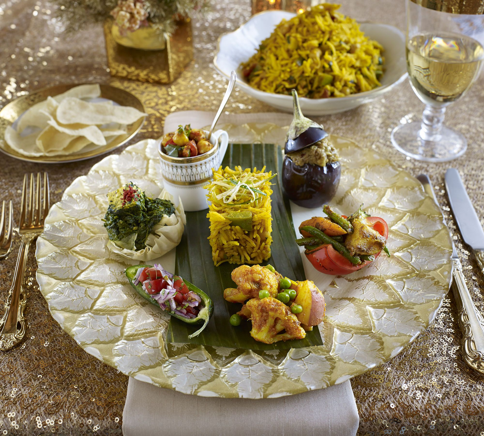 Indian Wedding Reception Food Menu: Thali Sampler, Modern Style, By Www.entertainingcompany