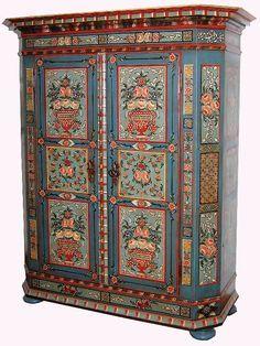 Bemalter Bauernschrank Colorful Furniture Paint Furniture Hand